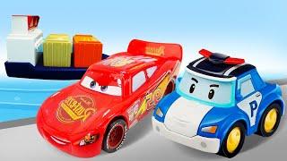 Видео про машинки Робокар Поли и Тачки. Молния Маквин хочет новые колеса! Время быть героем,Грузчик!