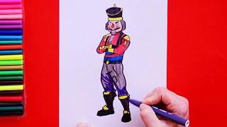 How to draw Crackshot - Fortnite Character Series