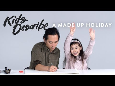 Kids Describe a Made Up Holiday to Koji the Illustrator | Kids Describe | HiHo Kids