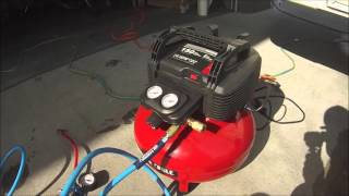 setting my new tires to 90 psi using new Air compressor EEZ tire