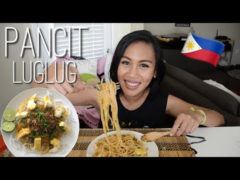FILIPINO FOOD PANCIT LUGLUG Vegetarian 🌱 Mukbang