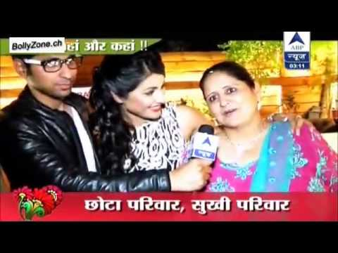 Hina Khan S Real Family Sbs Segment 13th January 2014 Youtube
