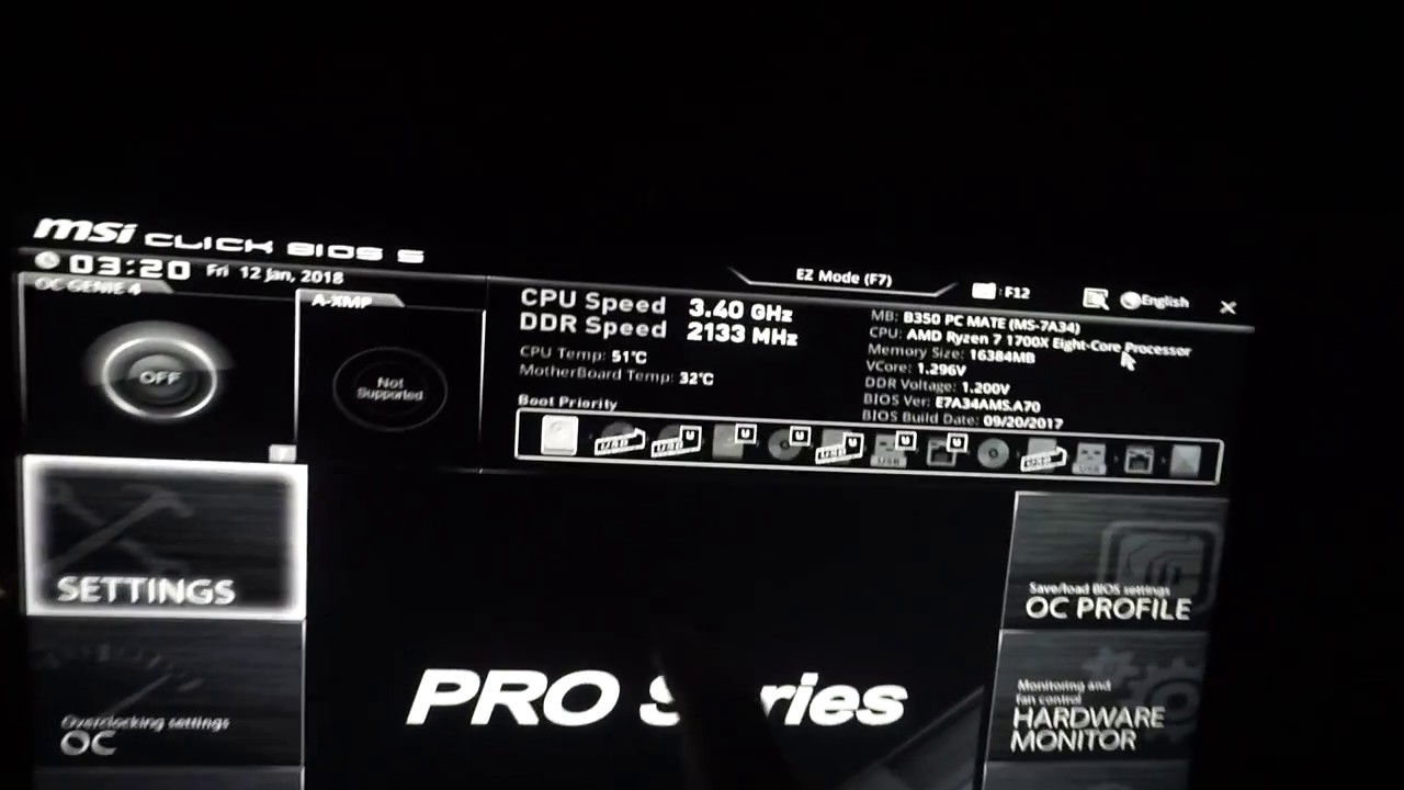 How to stop PC from Automatically entering BIOS (MSI B350 PC MATE)