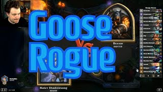 Goose Rogue vs Deathrattle Hunter - Hearthstone