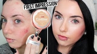 NEW LOREAL TRUE MATCH LUMI CUSHION FOUNDATION {First Impression Review & Demo}