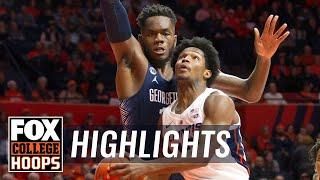 Georgetown Hoyas vs. Illinois Illini | FOX COLLEGE HOOPS HIGHLIGHTS