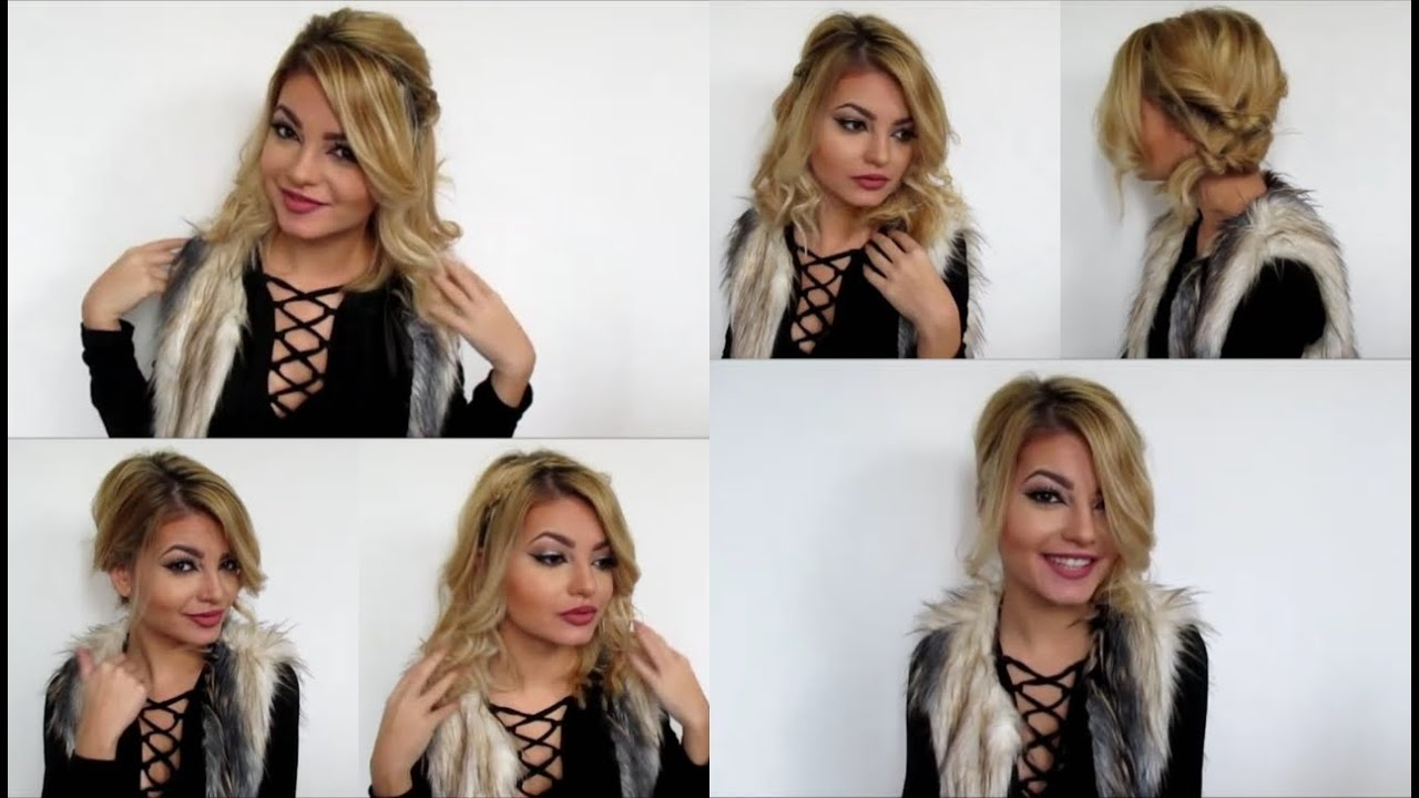 Cute And Easy Hairstyles For Short Hair 2016 Youtube