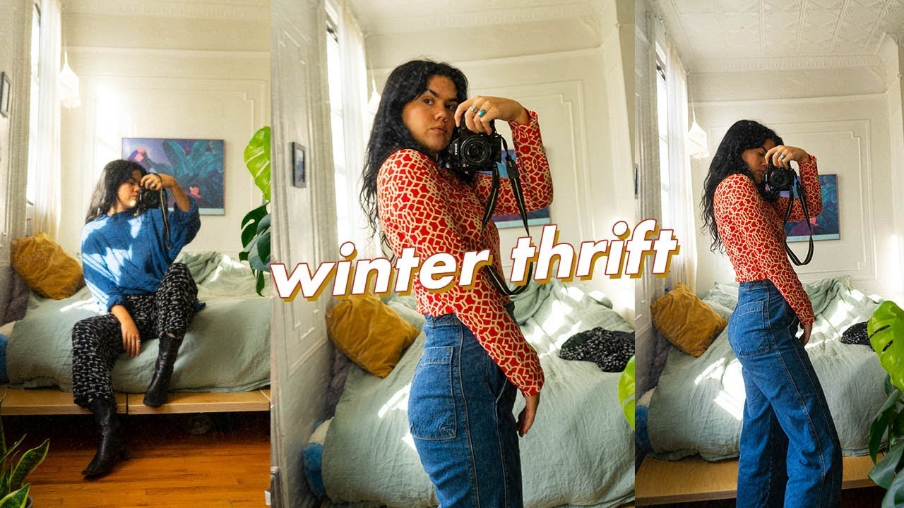 [VIDEO] - CoZy Winter Try On Thrift Haul - Sweaters, Layering, Fun Pieces 2