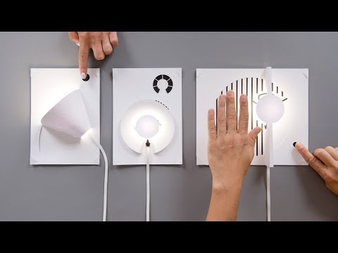 Bare Conductive's DIY lamp kit allows you to build a lamp with a piece of paper