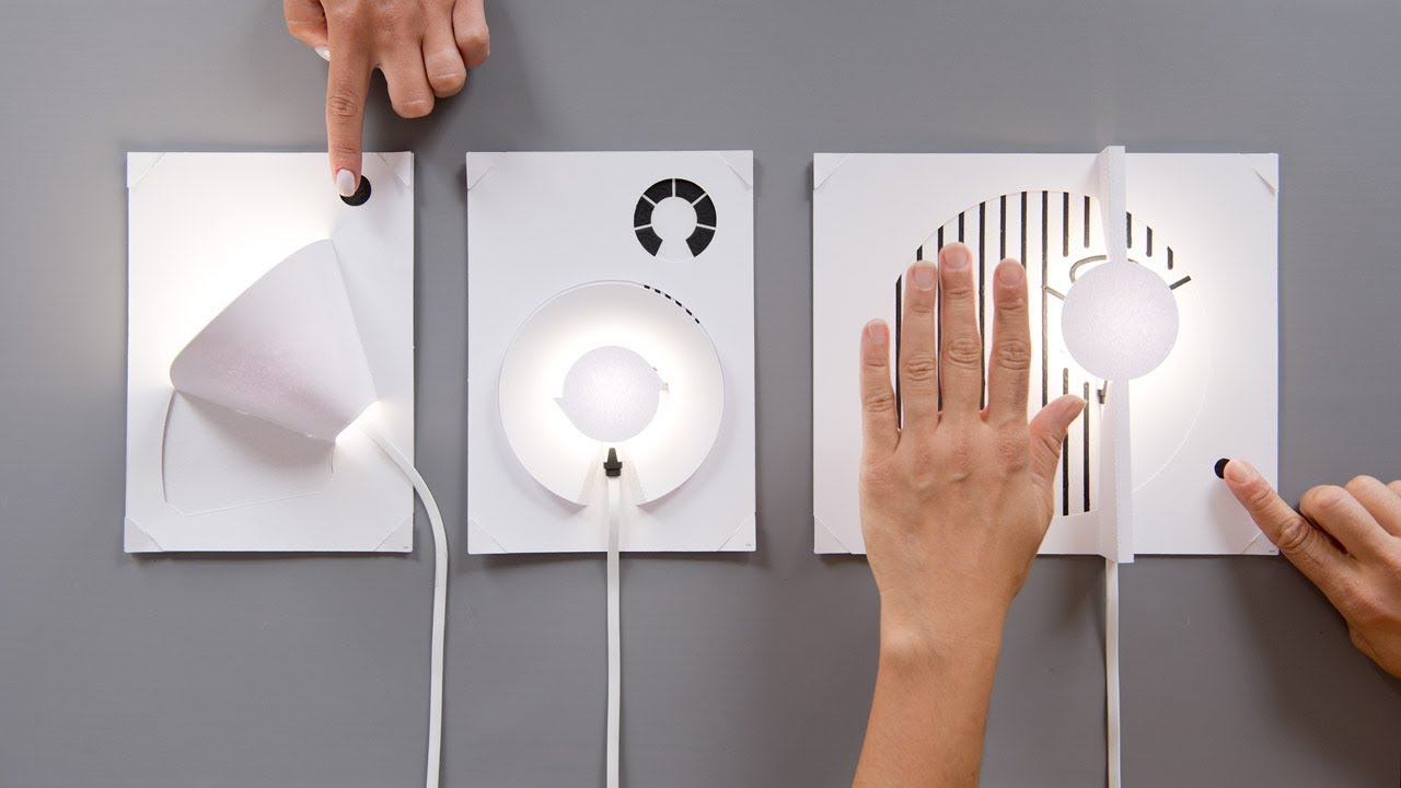 Bare Conductives Diy Lamp Kit Allows You To Build A With Circuit Board Neatorama Piece Of Paper
