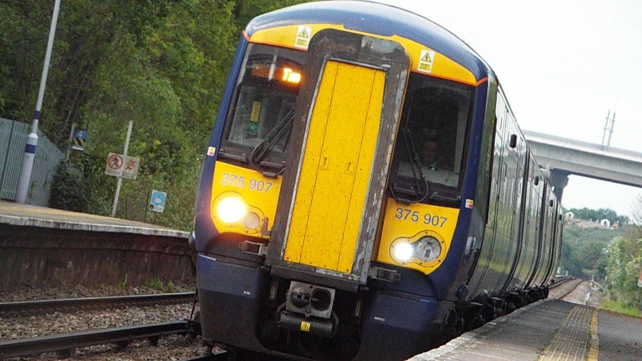RARE 4 Car Class 375 9 375907 Departs Cuxton