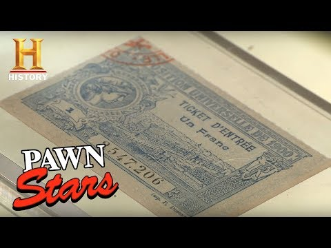 Pawn Stars: 1900 Olympic Games Ticket Stub | History
