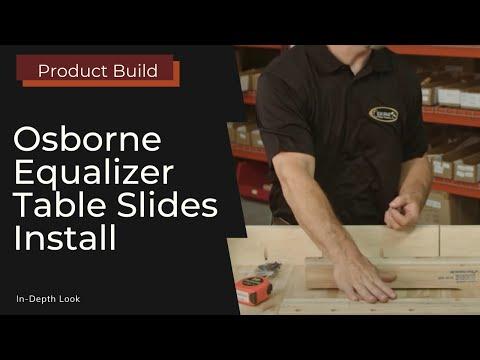 Installing Equalizer Slides on a Pedestal Base Table
