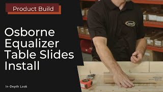 Installing Equalizer Slides on a Pedestal Base Table