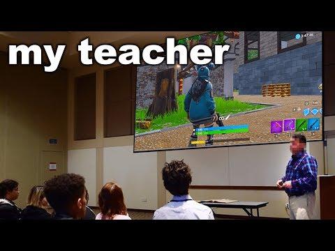I Challenged my SCHOOL Teacher to 1v1 me on Fortnite...