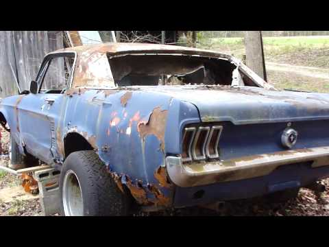 "67 Mustang Coupe barn/field find*RUSTY WRECK,""HONEY HOLE"" FIND crazy PATINA"