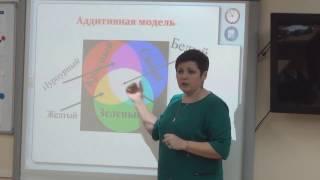 """Урок информатики в 8 классе по теме """"Цвет в компьютерной графике"""" (2016/17 уч. год)"""