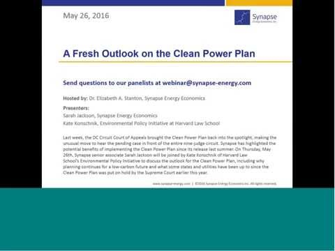 A Fresh Outlook on the Clean Power Plan