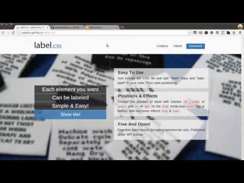 label.css: labels em qualquer elemento HTML