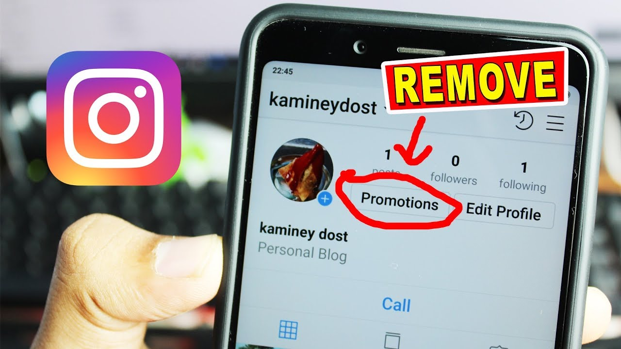 How To Remove Promote Button From Instagram Youtube
