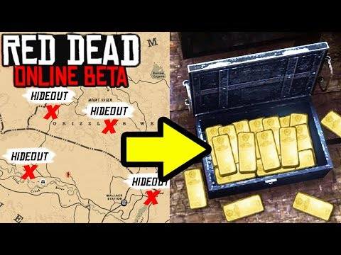 *SECRET* SPAWN UNLIMITED TREASURE HIDEOUTS in Red Dead Online! Treasure Tips & GLITCH RDR2?! thumbnail