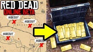 *SECRET* SPAWN UNLIMITED TREASURE HIDEOUTS in Red Dead Online! Treasure Tips & GLITCH RDR2?!