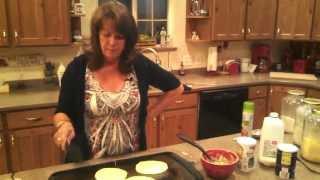 Making Cornmeal Pancakes
