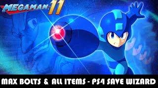 [PS4] Mega Man 11 - Max Bolts & Plus All Items Unlocked - PS4 SAVE WIZARD