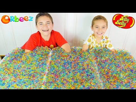 ORBEEZ CHALLENGE #2 - Jelly Belly & Surprises Cachés dans des Milliers D'Orbeez :)