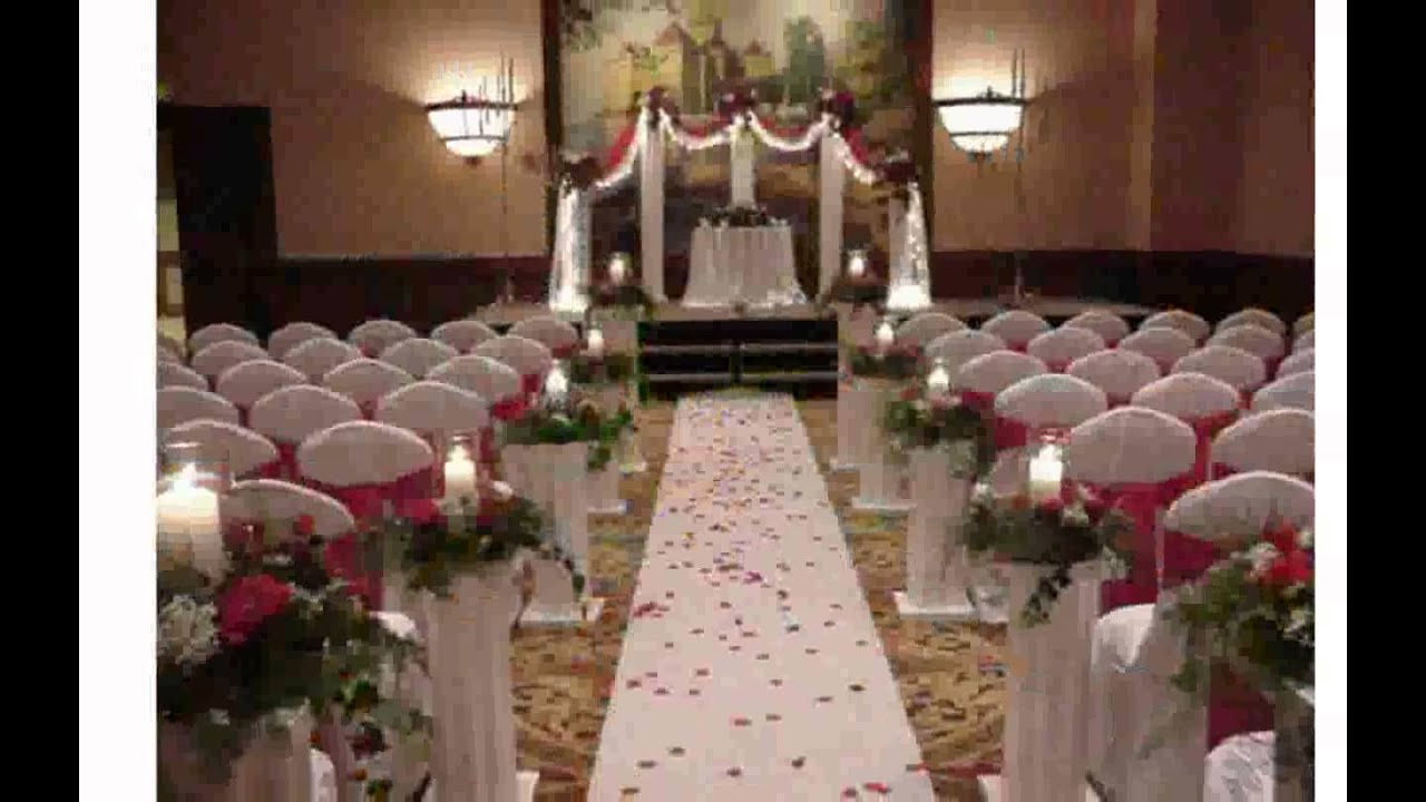 Wedding decorations for church youtube for Altar decoration wedding