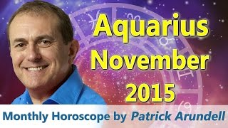 Aquarius Horoscope November 2015