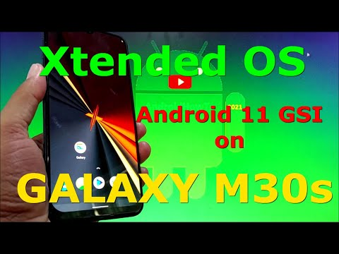 Xtended OS XR-v6.0 Android 11 GSI on Samsung Galaxy M30s