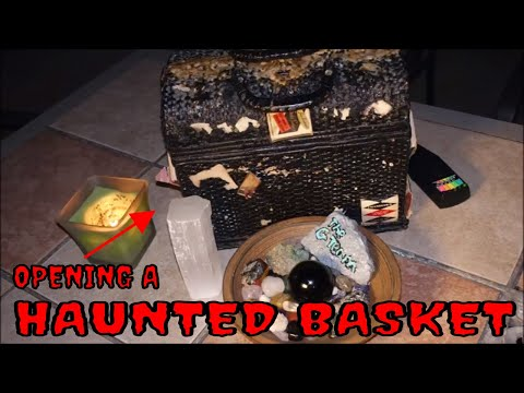 OPENING A HAUNTED BASKET **STRANGE THINGS HAPPEN**!