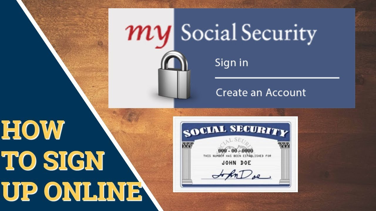 How To Sign Up For My Social Security Account Online Youtube