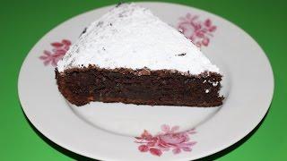 Шоколадно-яблочный пирог. Chocolate apple cake.