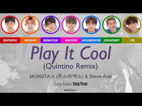 MONSTA X (몬스타엑스) - Play it Cool (English Version) (Quintino Remix) (Color Coded Eng/Esp Lyrics) indir