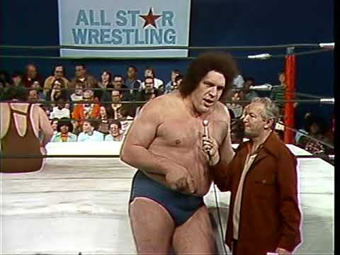 Andre The Giant vs  Dave Nevins & Angel Rivera