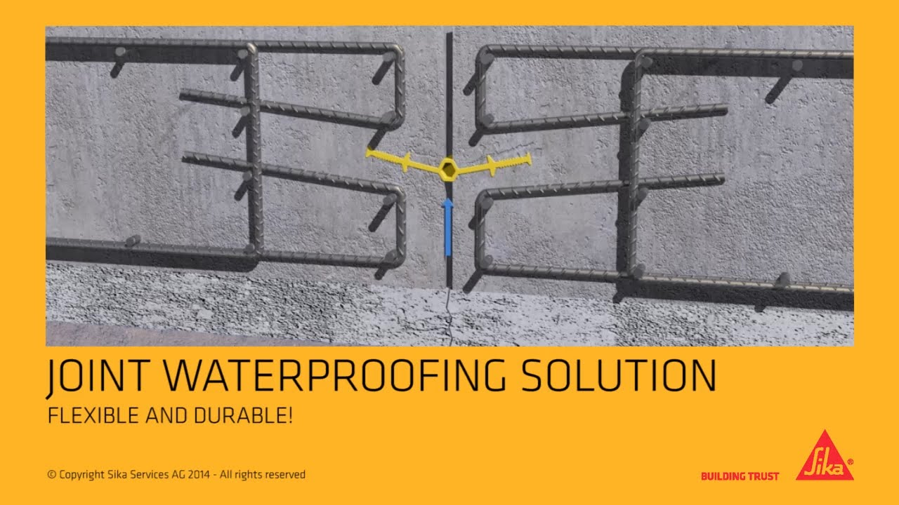 Sika 174 Waterbar Waterstops For Joint Sealing Youtube