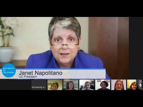 UC Staff Hangout with President Janet Napolitano