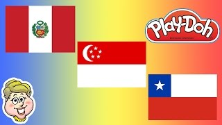 Play-Doh Flags! Peru, Singapore, and Chile!  EWMJ #116