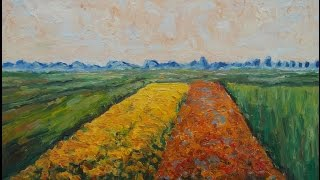 Step by Step Oil Painting the Yellow Fields at Gennevilliers after Gustave Caillebotte