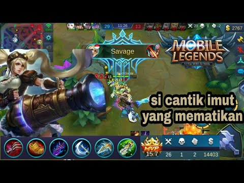 Layla build item sampe dapet savage(penta kill) - Mobile Legends