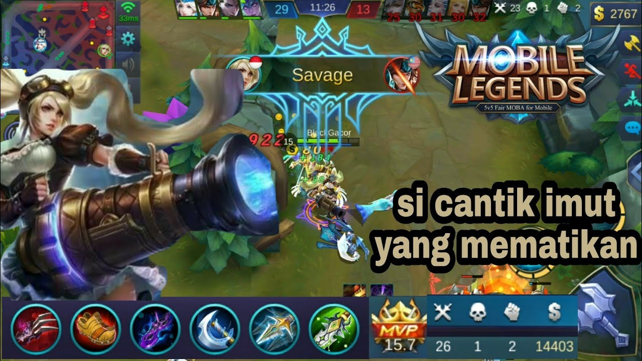 Layla Build Item Sampe Dapet Savagepenta Kill Mobile