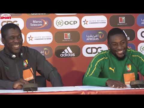 Ambiance de la conférence de presse Maroc - Cameroun ...