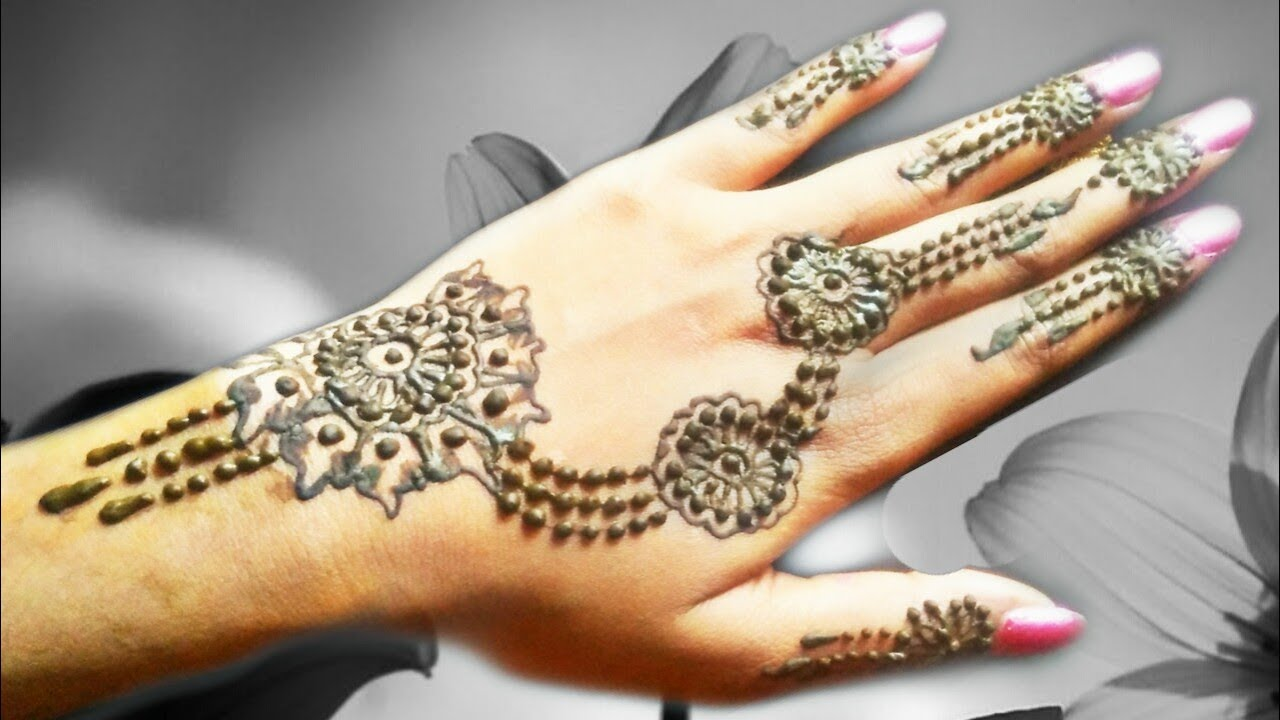 Ornamental mehndi design 2 // back side mehndi design // simple mehndi  design
