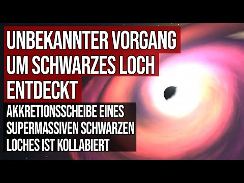 Unbekannter Vorgang entdeckt - Akkretionsscheibe eines supermassiven schwarzen Loches ist kollabiert