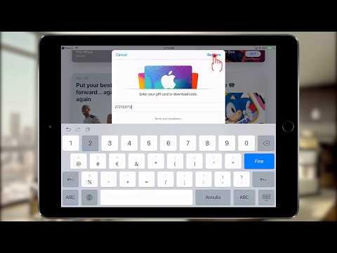 Redeem App Store (iTunes) Gift card or Promo Code [iOS11]