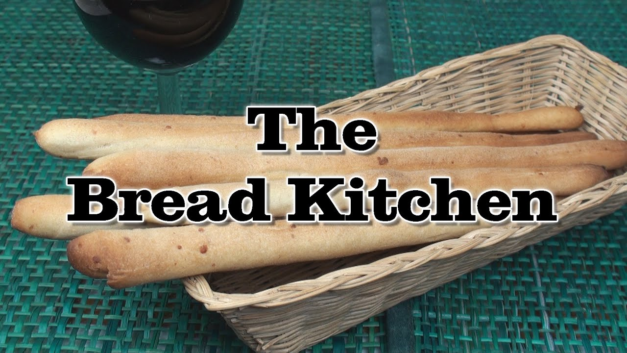 Grissini Italian Breadsticks Recipe In The Bread Kitchen Youtube