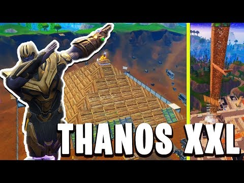 THANOS DTRUIT LA PLUS GROSSE TOUR XXL DE FORTNITE BATTLE ROYALE !!!
