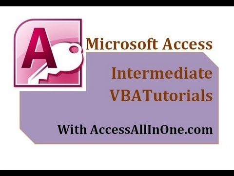 21/28 - BOF and EOF - MS Access VBA  Intermediate Tutorials